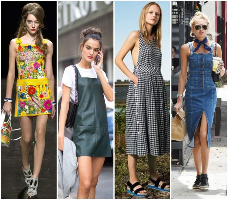Vestido avental é uma das tendências da moda primavera/verão 2017/2018