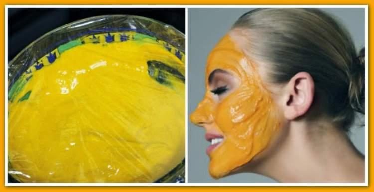 Receita com cúrcuma e farinha de grão de bico para eliminar os pelos do rosto