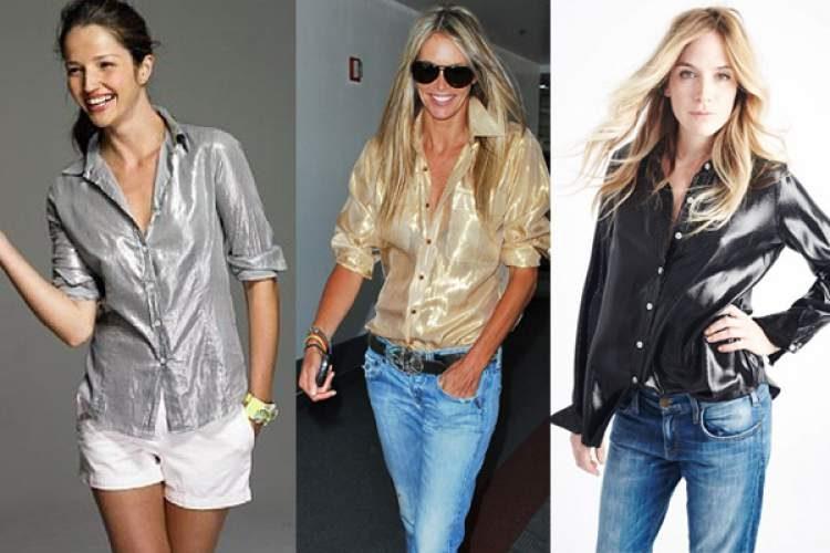 Peças de efeito metálico estão entre as tendências da moda primavera verão 2017/2018