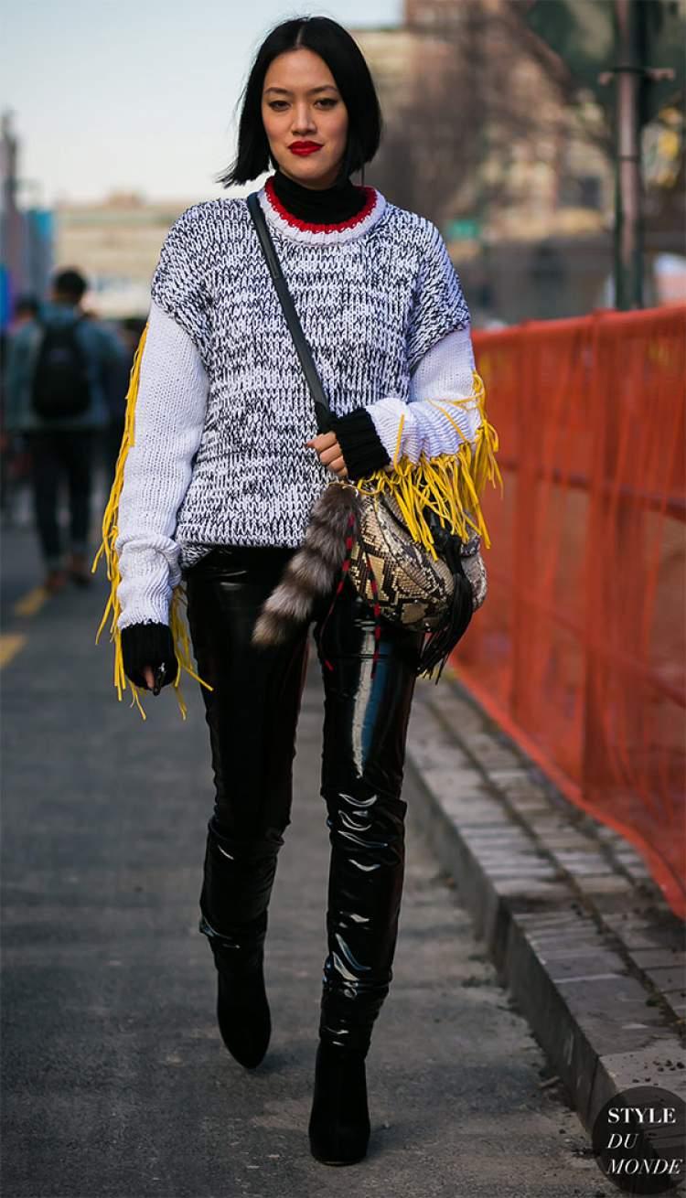 Veja como criar look com calça de vinil