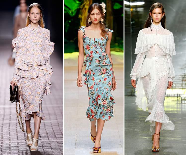 Vestidos com Babados para Você Usar na Primavera 2017 e no Verão 2018