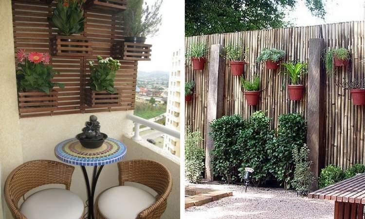 Decoração com jardim de inverno na vertical