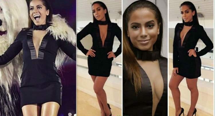 O vestido smoking foi um dos looks da Anitta que quebraram a Internet