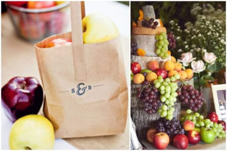 Frutas orgânicas entre as tendências em lembrancinhas de casamento
