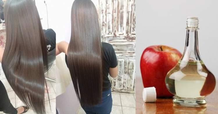 Receita com vinagre de maça para fazer o cabelo crescer muito rápido