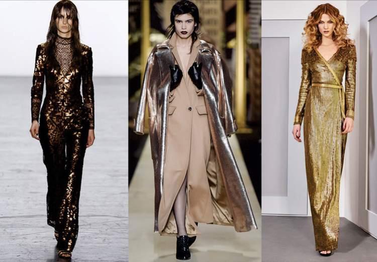Roupa metalizada está entre as tendências da moda outono inverno 2018