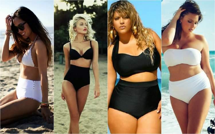 Biquíni cintura alta é uma das tendências da moda praia verão 2018
