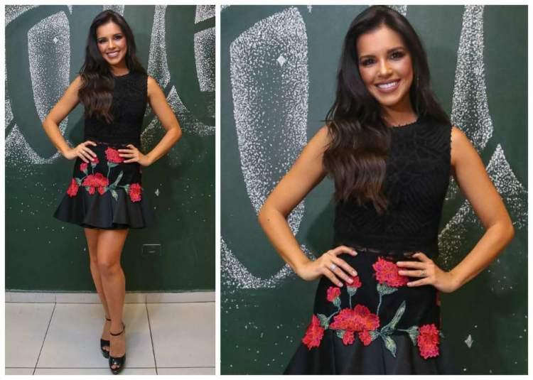 Mariana Rios usando um conjunto romântico e exuberante