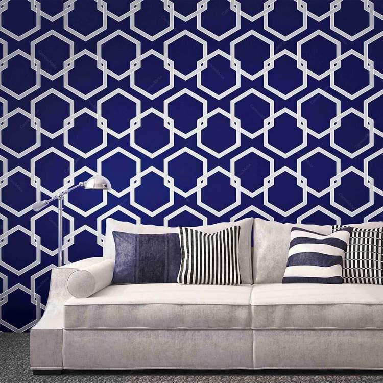 Papel de parede autocolante ajuda na decoração criativa e barata para transformar sua casa