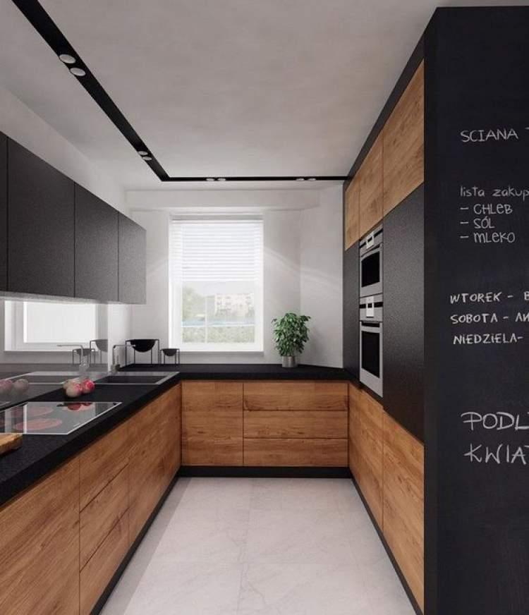 Balcão de cozinha elegante e bonito