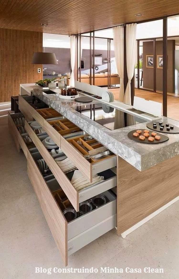 Balcão de cozinha moderno