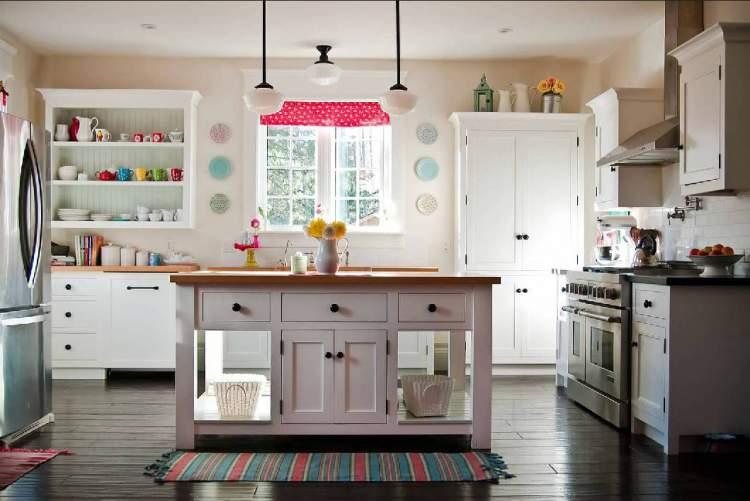 Modelo de balcão de cozinha retrô