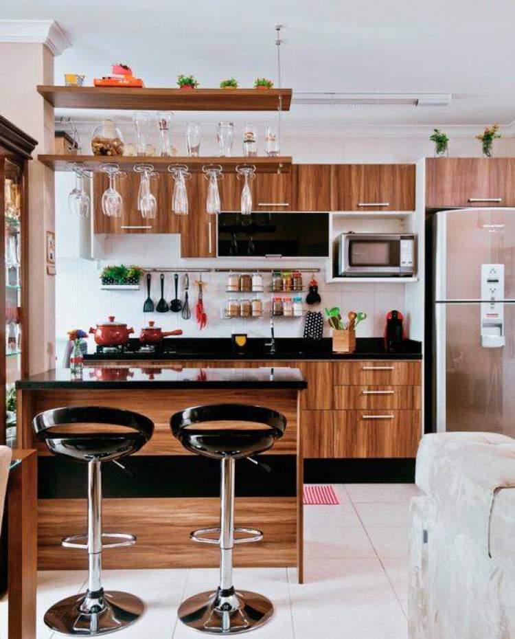 Móveis planejados para cozinhas pequenas