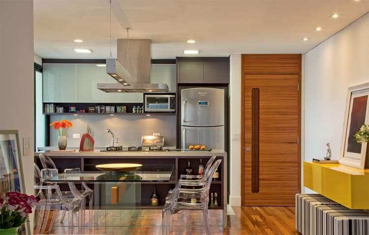 Decoração de cozinha iluminada