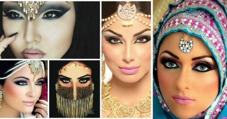 Fotos da maquiagem árabe