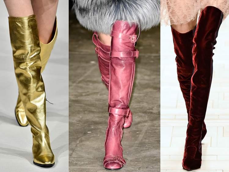 Bota acima do joelho é uma tendência no inverno 2018