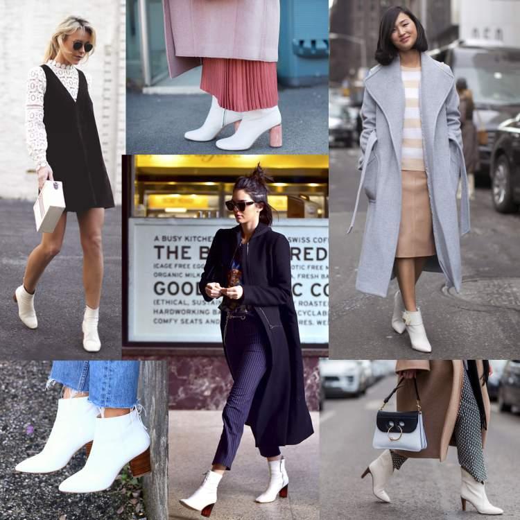 Botas brancas entre as tendências da moda inverno 2018