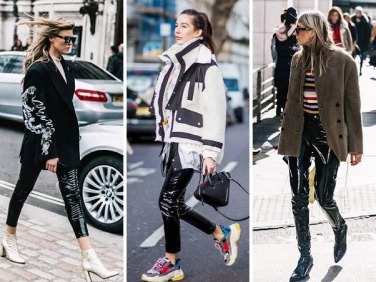 A calça vinil é uma das peças da moda inverno 2018 para incluir na lista de desejos