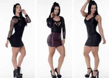 Looks da musa fitness Eva Andressa