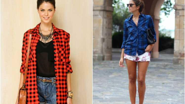 Look cool com camisa xadrez