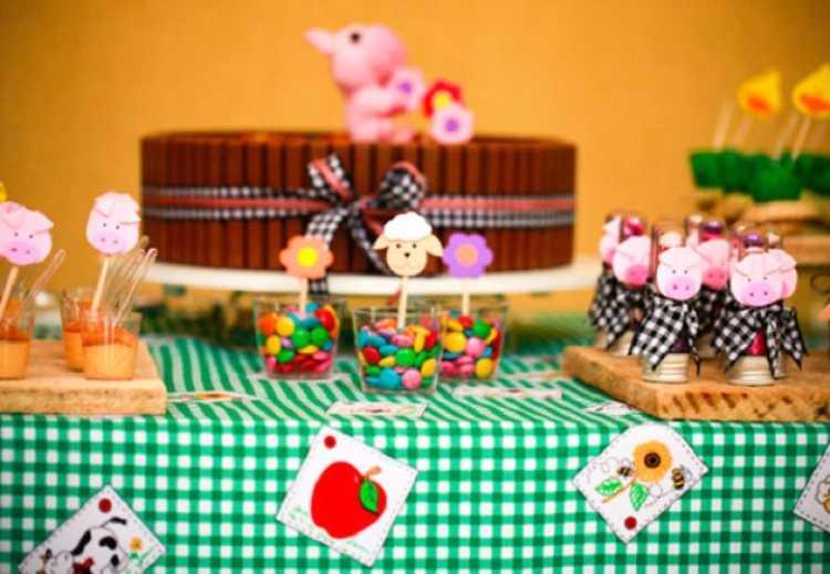 Decoração para festa junina com xadrez