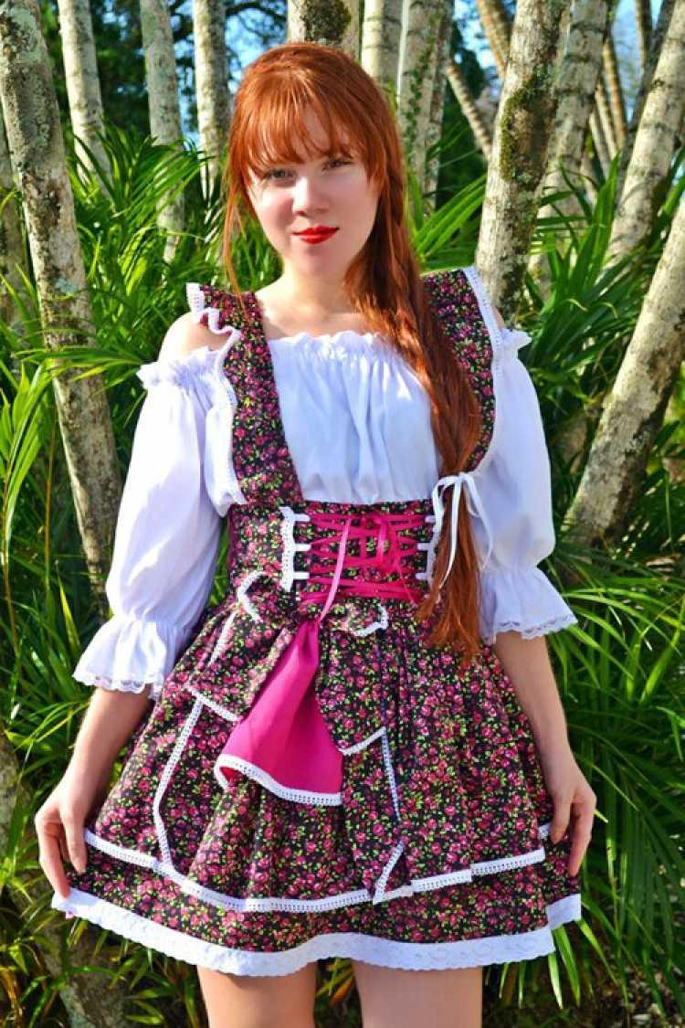 Vestido florido para festa junina