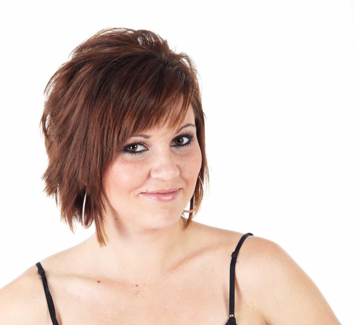 Corte de cabelo repicado para senhoras