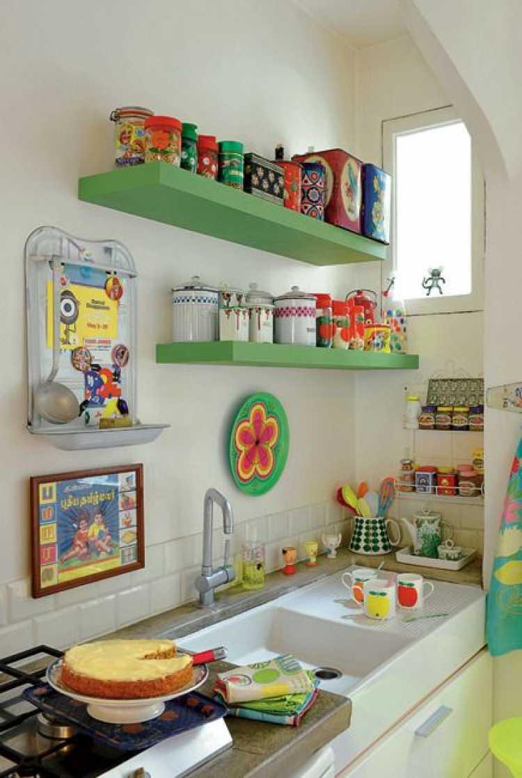 Objetos decorativos para uma cozinha pequena