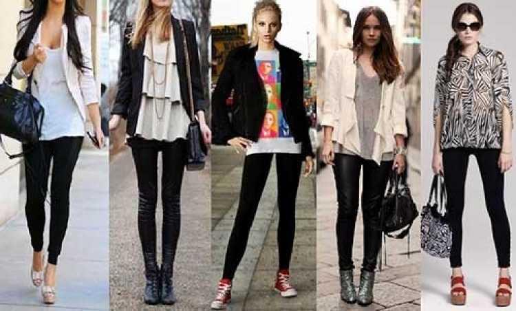 Versatilidade com calças legging