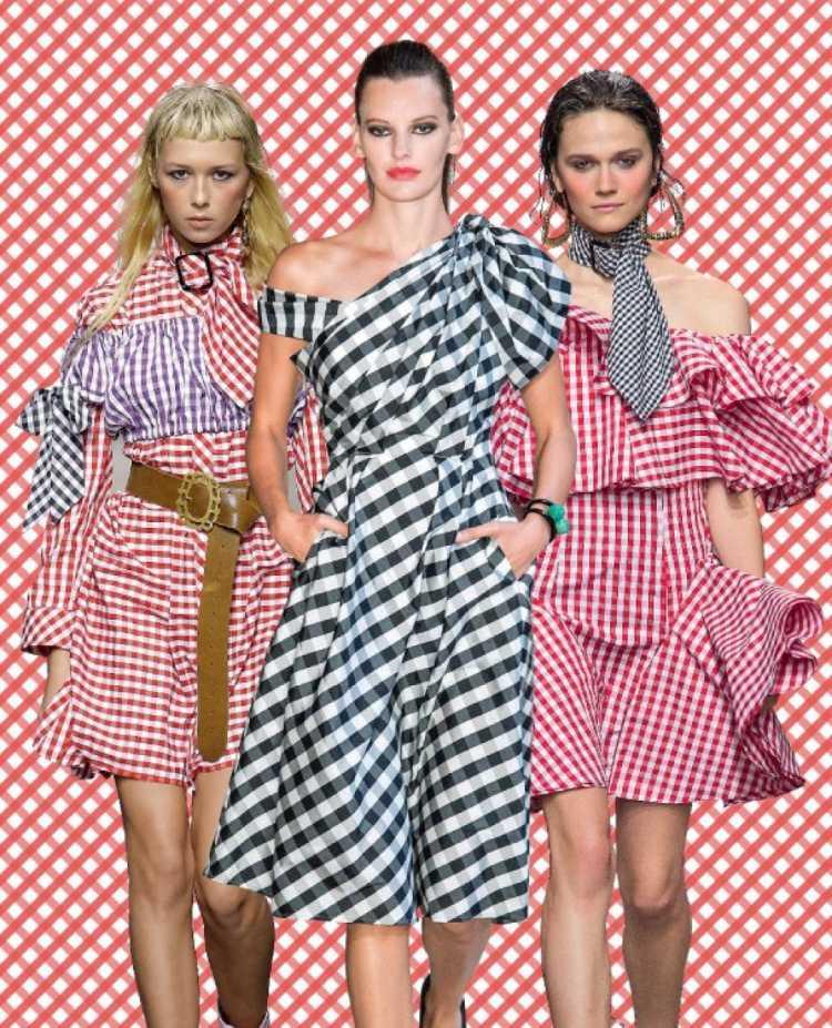 Estampa Vichy é uma das tendências da moda verão 2019