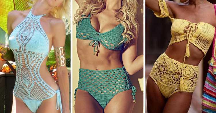 Crochê e trabalhos artesanais é uma das tendências da moda praia no verão 2019