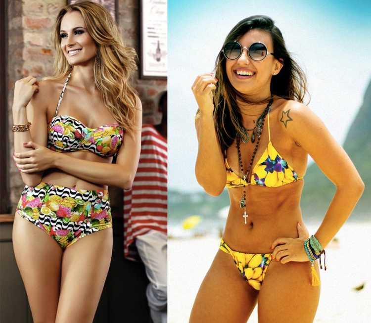 Estampas de frutas é uma das tendências da moda praia no verão 2019