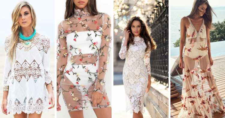 Modelo transparente é um dos modelos de vestidos para apostar no verão 2019