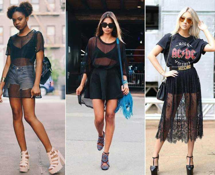 Transparência é uma das tendências de roupas leves para o verão 2019