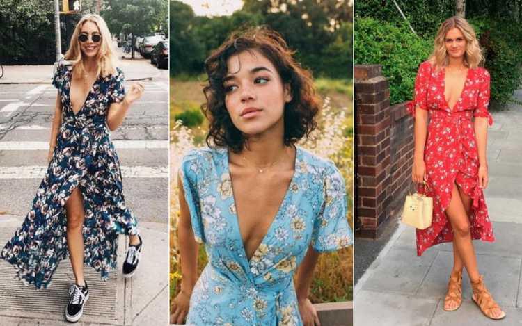 Wrap dress é uma das tendências de roupas leves para o verão 2019
