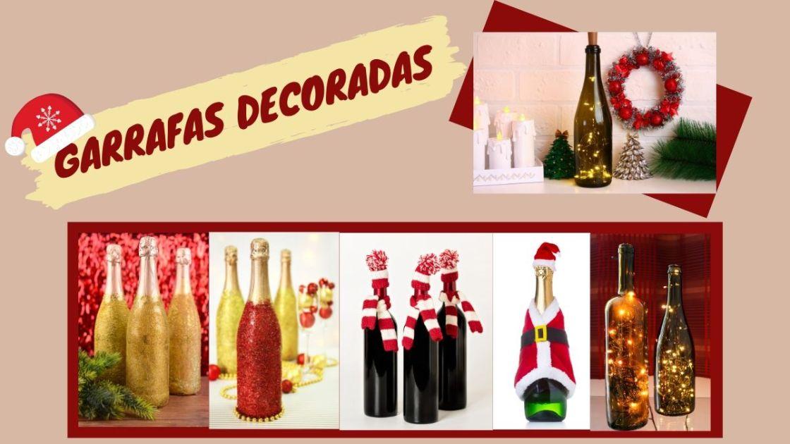 Ideias de decoração para o Natal com garrafas