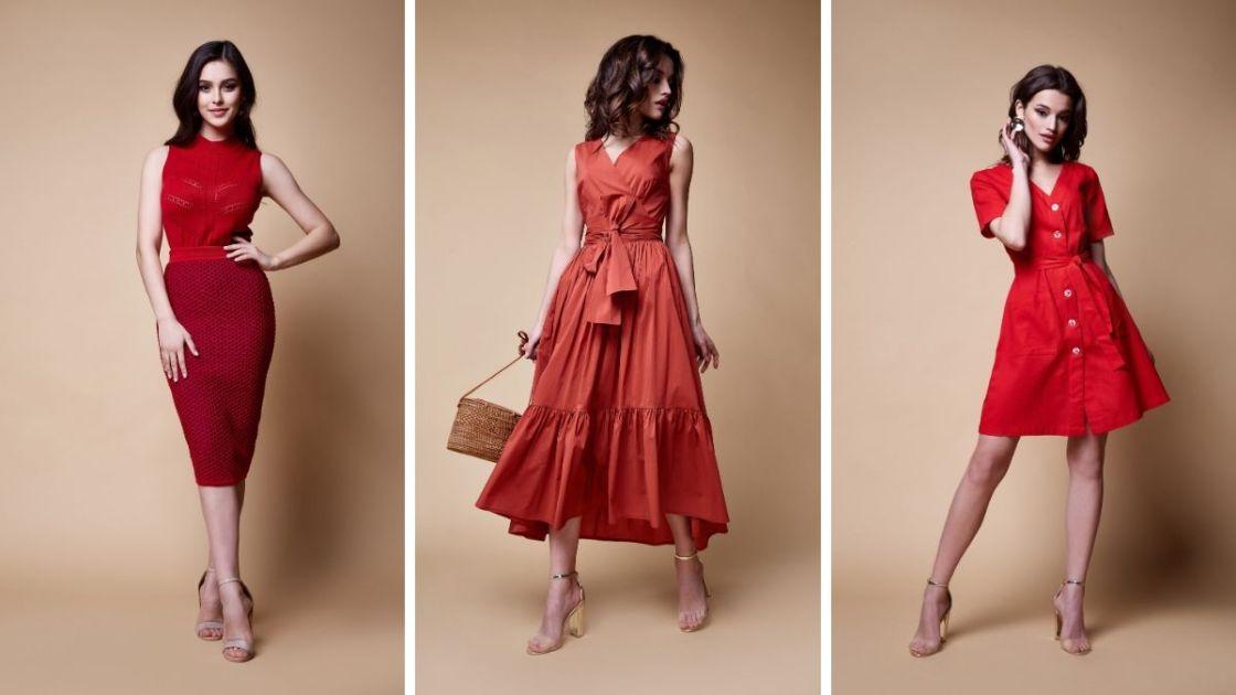 Vestido vermelho é um dos looks que combinam com Natal