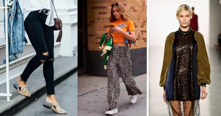 Animal print repaginado é uma das tendências de moda que seguirão absolutas em 2019