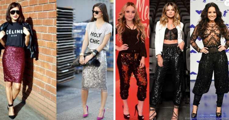 Brilho, muito brilho é uma das tendências de moda que seguirão absolutas em 2019
