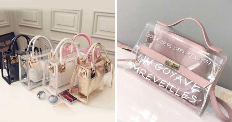 Clear bags é uma das tendências de moda que seguirão absolutas em 2019