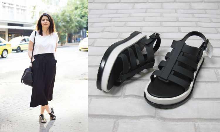 Looks com flatform e calça pantacourt é tendência no verão 2019