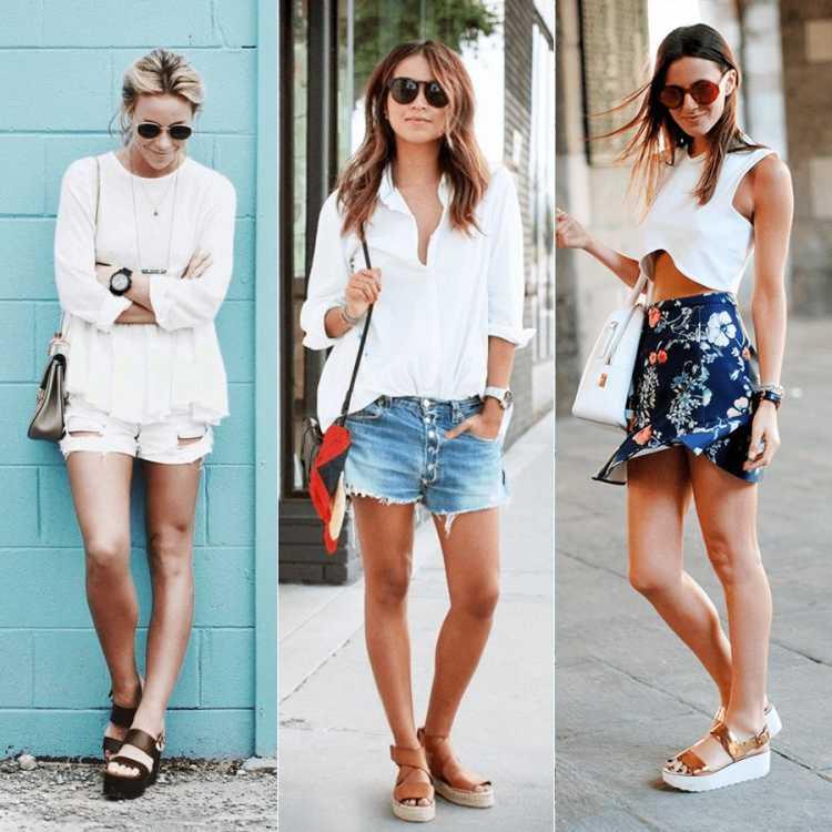 sandálias de tiras flatform é tendência no verão 2019