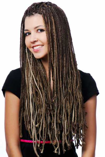 Trança afro cabelo solto