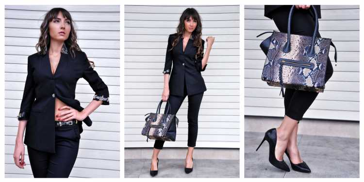 look com terninho feminino formal preto