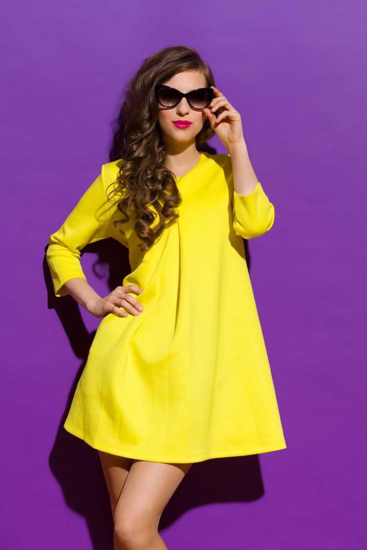 Vestido amarelo vibrante