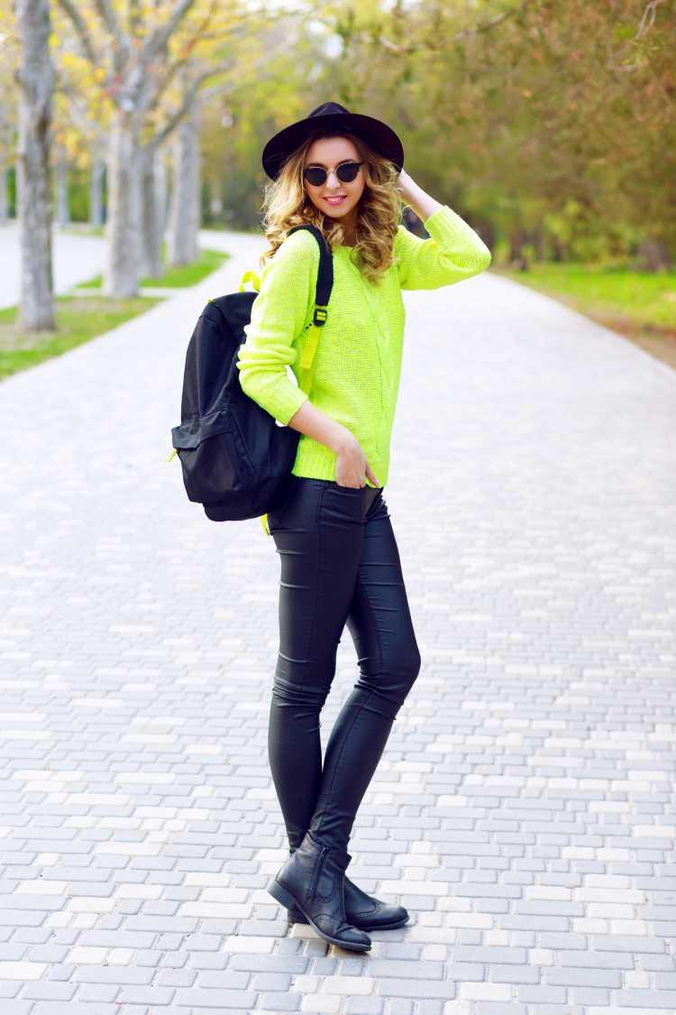 blusa de frio verde limão