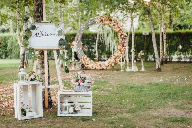 casamento em casa decoração da entrada