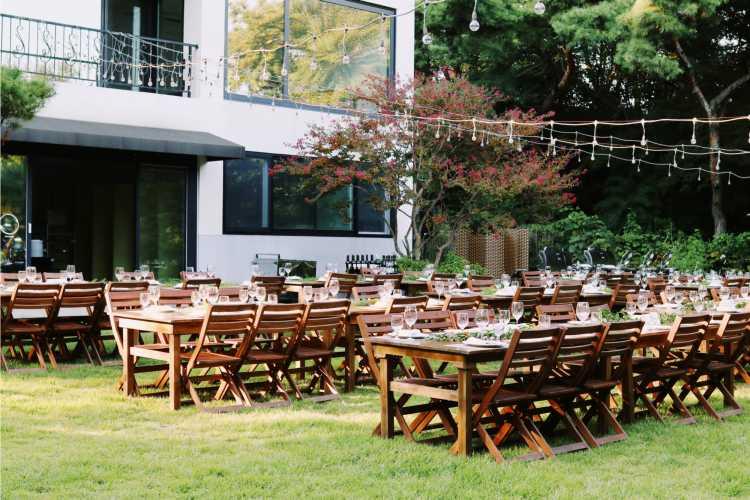 casamento em casa para muitos convidados