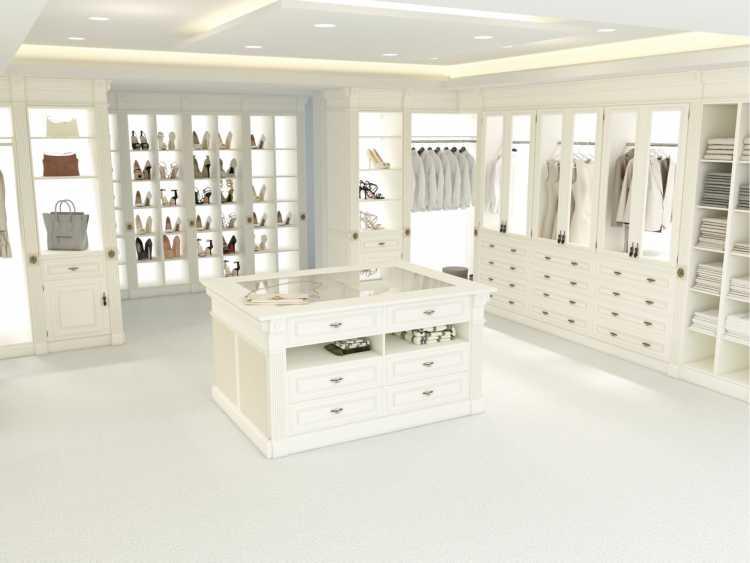 closet romântico todo branco