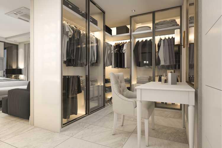 closet transparente